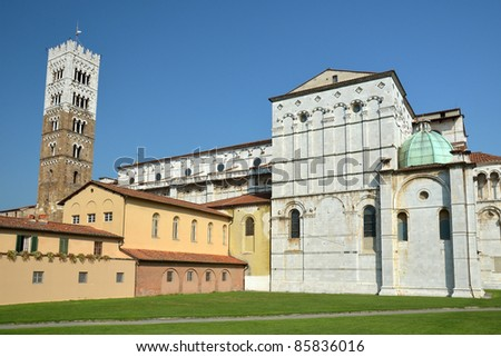 The Cathedral from Lucca, Italy