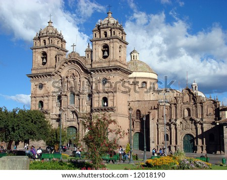 The Cathedral in Cusco, Peru, the ancient capital of the Incas
