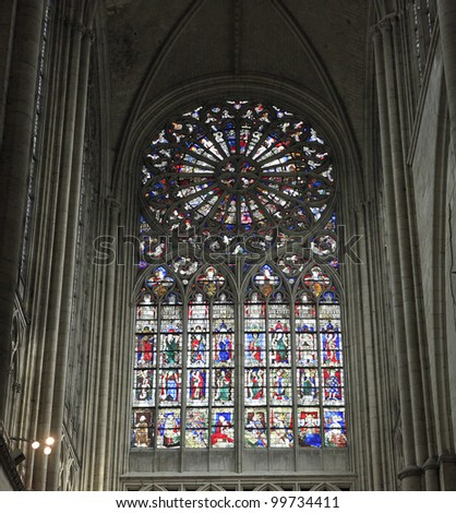 The Cathedral, in the city of Le Mans, France