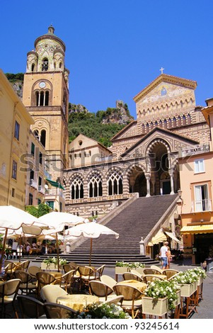 The Cathedral of Amalfi in the coastal town in southern Italy