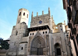 the cathedral of jesus of nazareth from huesca ,spain