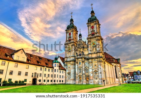 The Cathedral of Saint Gall Abbey in St. Gallen. UNESCO world heritage in Switzerland Foto stock ©