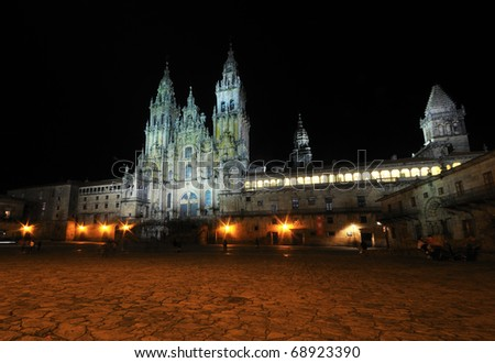 The Cathedral of Santiago de Compostela is located in the town of that name, in the center of the province of La Coruña, Galicia (Spain).
