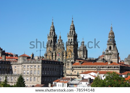 The cathedral of Santiago de Compostela is the reputed burial-place of Saint James the Greater, one of the apostles of Christ. It is the destination of the Way of St. James. Spain