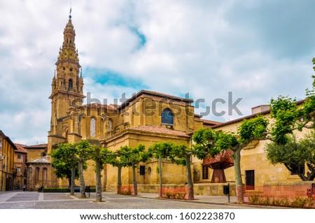 The Cathedral of Santo Domingo de la Calzada is a Roman Catholic church in La Rioja, Spain. Foto stock ©