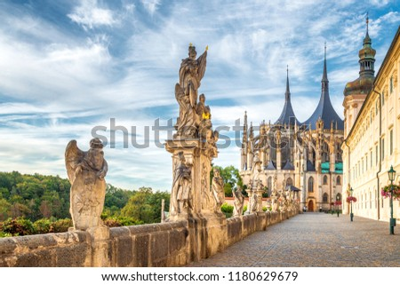 The Cathedral of St Barbara and Jesuit College in Kutna Hora, Czech Republic, Europe. Foto stock ©