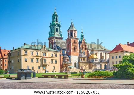 The Cathedral of St. Stanislaus and Wenceslaus (Polish. Bazylika archikatedralna w. Stanisława i św. Wacława) is the archcathedral church of the Kraków Archdiocese of the Roman Catholic Church Zdjęcia stock ©
