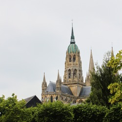 The Cathedrale Notre-Dame de Bayeux, France, Normandy
