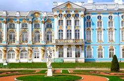 The Catherine Palace in Tsarskoye Selo, Russia