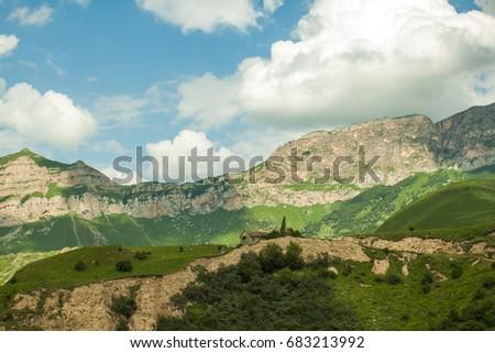 the Caucasus mountains #683213992