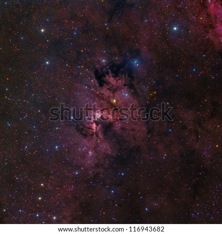 The Cave Nebula in the Constellation Cepheus