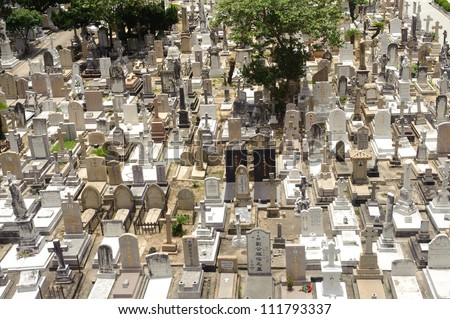 The cemetery in Hong Kong