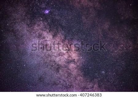 The center of the milky way galaxy, Night sky, Milky way close-up