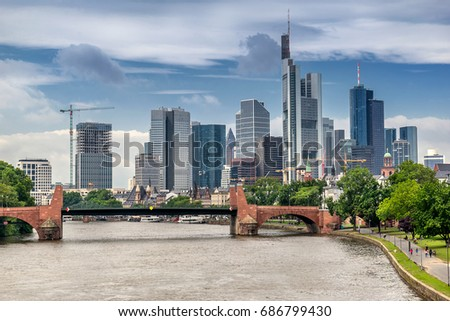 The central business district of Frankfurt Am Main #686799430