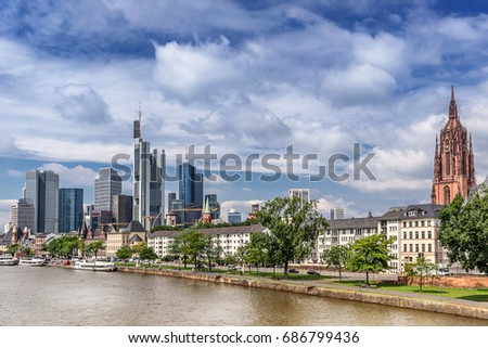 The central business district of Frankfurt Am Main #686799436