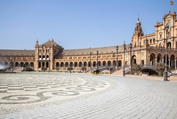 The central square of Seville Plaza de Espana, Andalucia, Spain