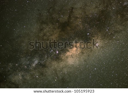 The centre of the Milky Way. Our galaxy. Long exposure photograph from an astronomical observatory site.