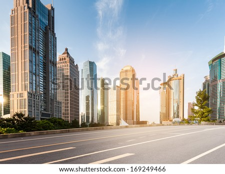 The century avenue of street scene in shanghai Lujiazui China