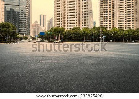 The century avenue of street scene in shanghai Lujiazui,China