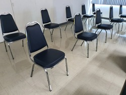 the chair in Meeting room for social distancing.