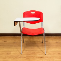 The Chair Lecture red in the room