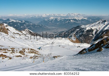 The chair lift and rope tow systems of Kaprun, Austria