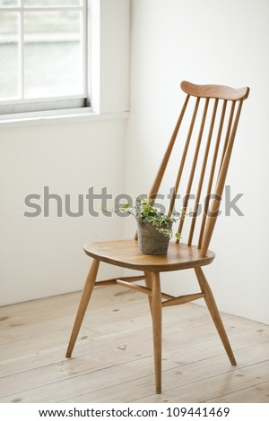 The chair which is put in the room