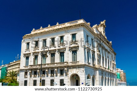 The Chamber of Commerce, a historic building in Algiers, the capital of Algeria