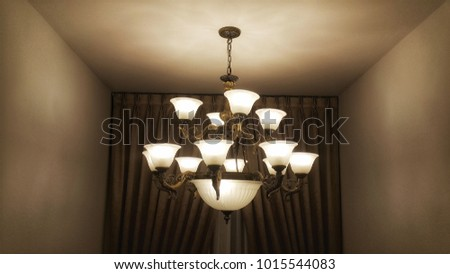 The chandeliers are used to decorate and decorate the house. #1015544083