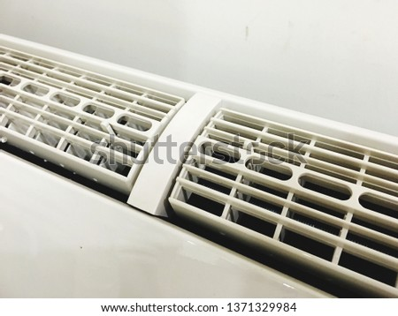 The channel of cool air conditioning  Air conditioning vents