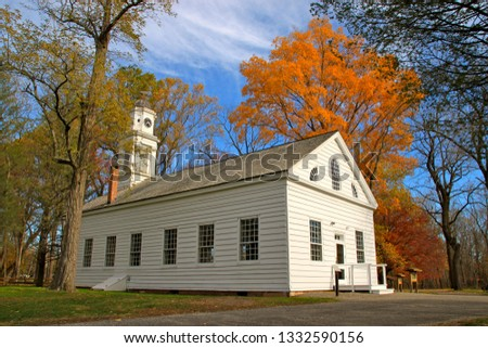 The Chapel at Allaire State Park in the fall