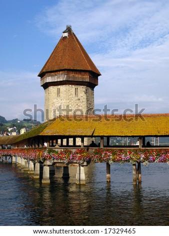 The Chapel Bridge 02 Lucerne (Luzern), Switzerland - stock photo