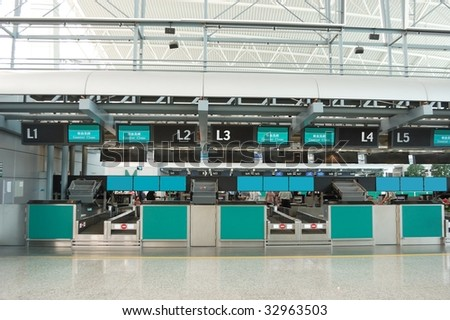 The check in counter in airport