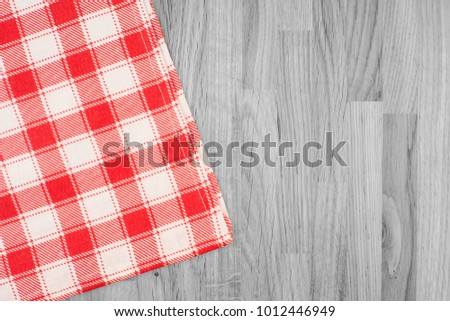 7ab4132f794 the checkered tablecloth on wooden table  1012446949 · Red classic checkered  tablecloth texture ...