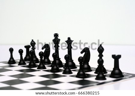 Background floor pattern in perspective with a chess board