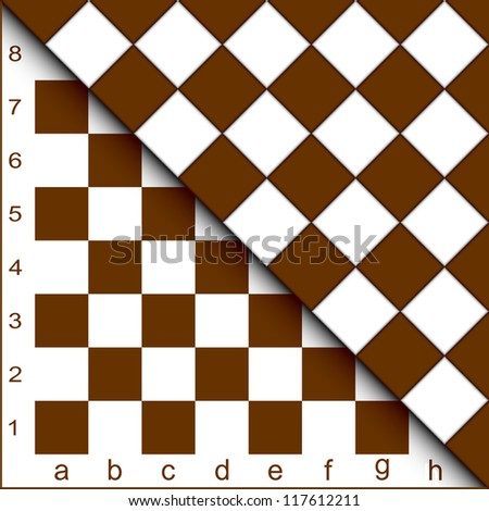 The chessboard forms an abstract background. EPS version is available as ID 98619170.