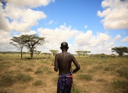 The chief of Samburu village Kenya Africa