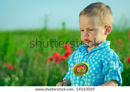 The child eats a sweet