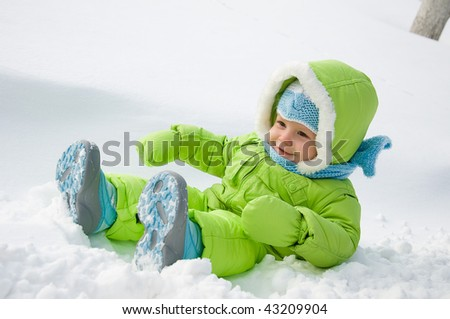 The child in snow