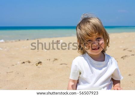 The child on a beach