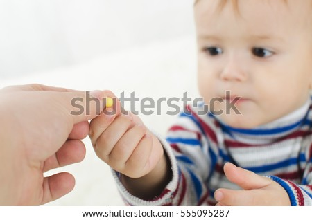 The child receives the vitamins