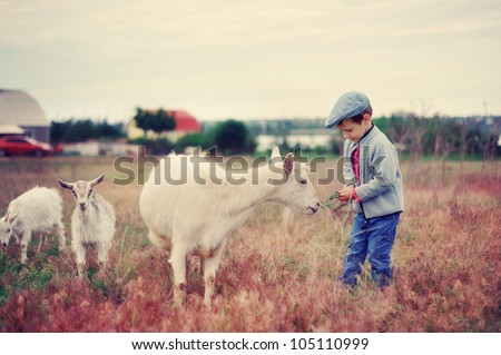 the child with a goat