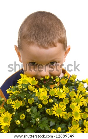 The child with yellow colours