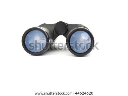 The children's binocular of colour khaki on a white background