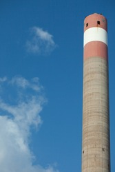 The chimneys of the kiln in the Petrolium Industrial Estate generate high pressure to drive the generator propellers.