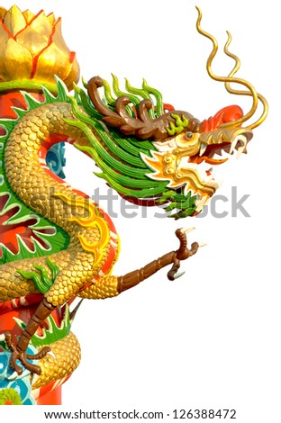 The Chinese style Dragon statue