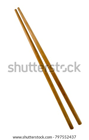 The Chopsticks with Clipping Path on White Background. Home decor Kitchen accessories Used as a component of tableware photos and webpage icon. #797552437