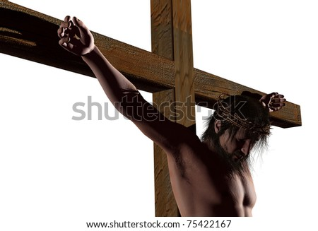 The Christ on a white background