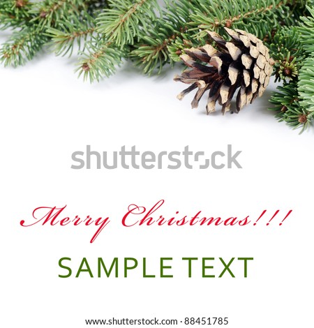The christmas and New Year Border  isolated