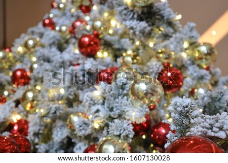 the Christmas Decoration. Holiday Decorations Isolated